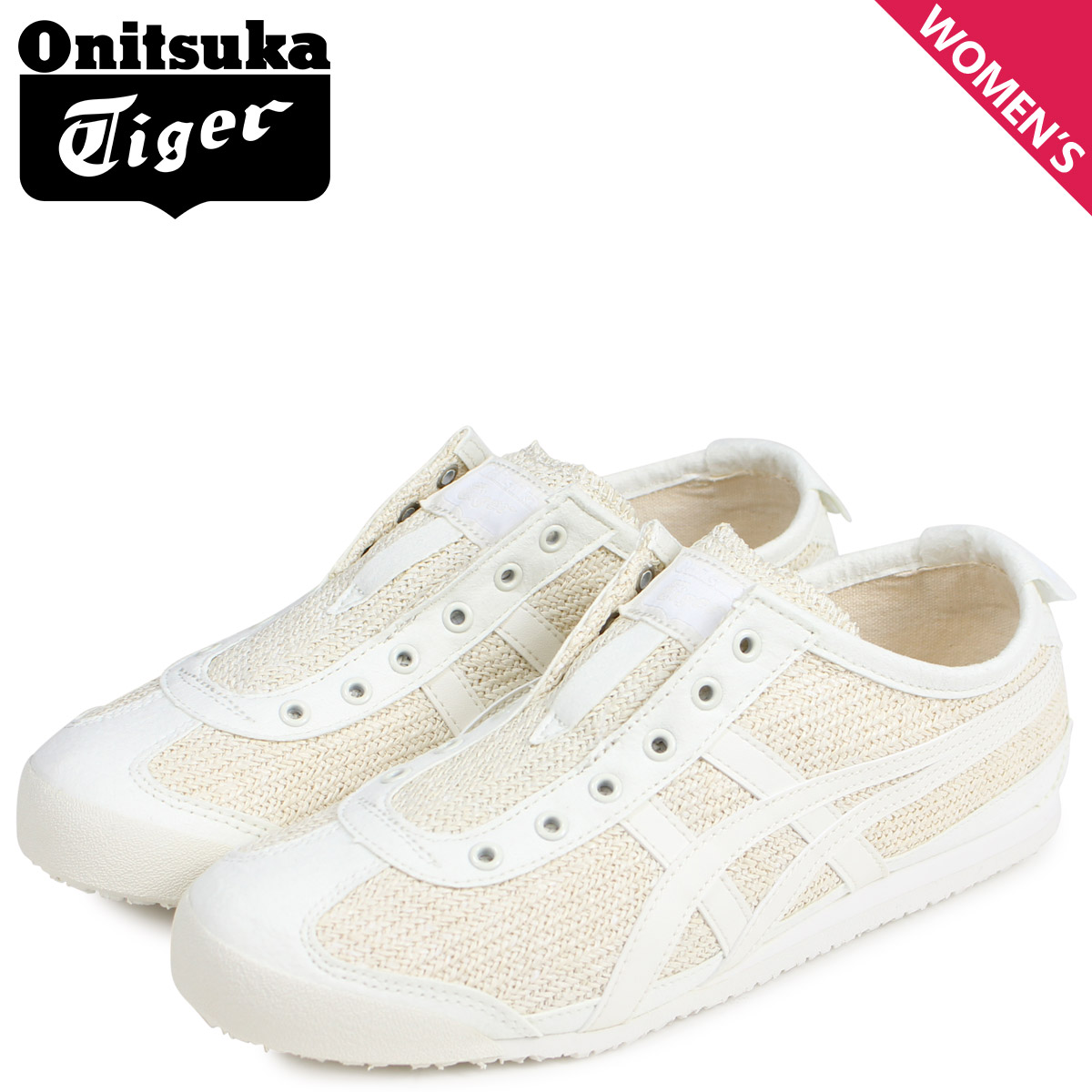 more photos 9ec66 54330 Onitsuka Tiger Onitsuka tiger Mexico 66 slip-ons sneakers Lady's MEXICO 66  SLIP-ON off-white white 1182A046-101