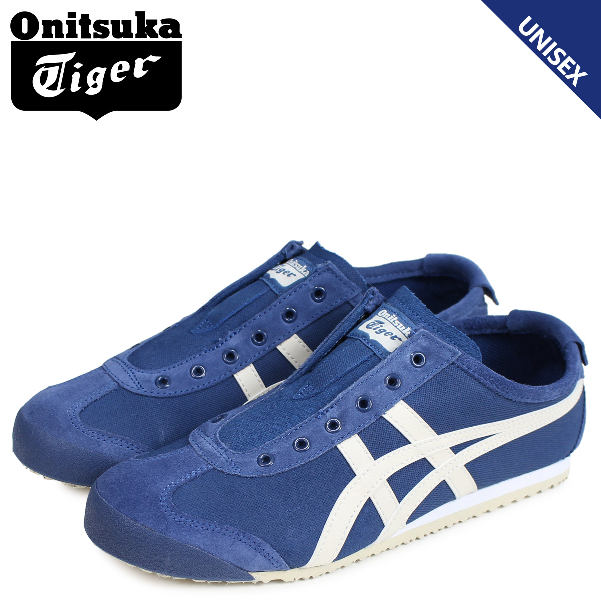 competitive price 0608e a9bbe Onitsuka Tiger Mexico 66 slip-ons Onitsuka tiger MEXICO 66 SLIP-ON men gap  Dis sneakers 1183A042-400 navy