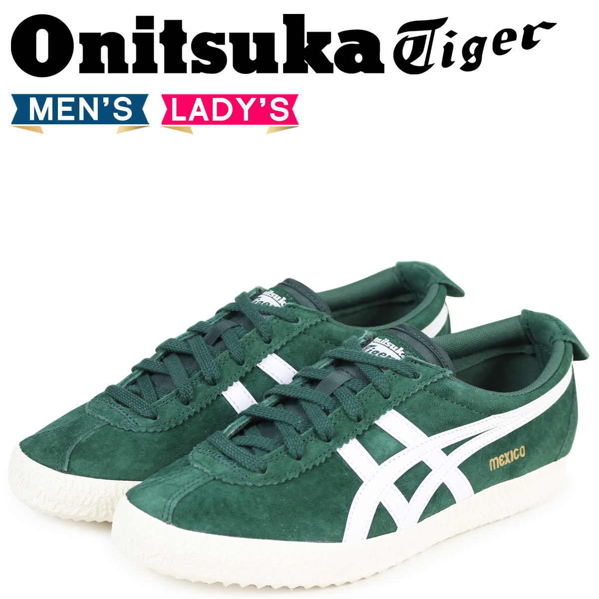 best website dca05 0d256 Onitsuka Tiger Mexico Onitsuka tiger MEXICO DELEGATION men gap Dis sneakers  D6E7L-7901 green