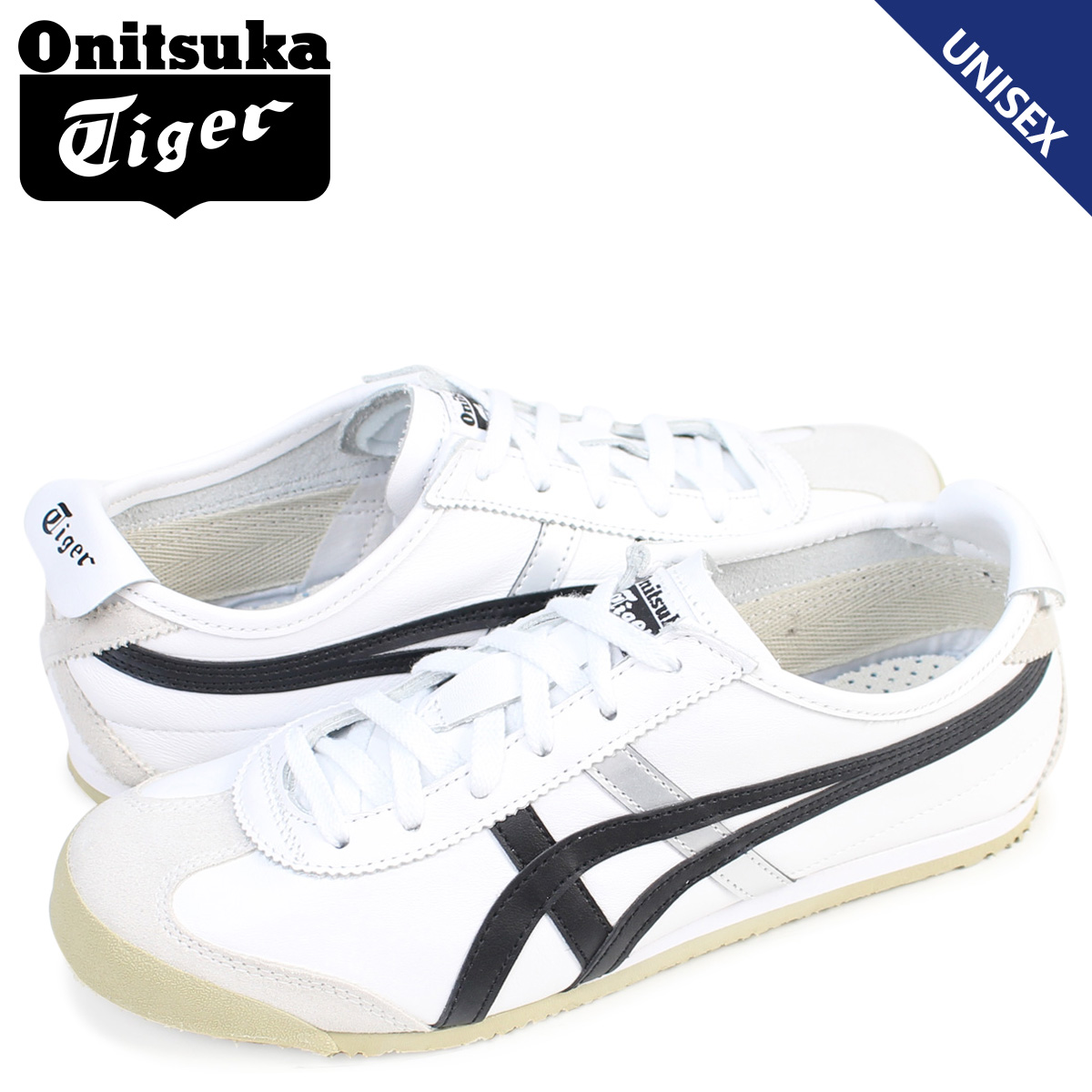 new product ef375 c0f9e Onitsuka Tiger Mexico 66 Onitsuka tiger MEXICO 66 men's lady's sneakers  DL408-0190 shoes white white