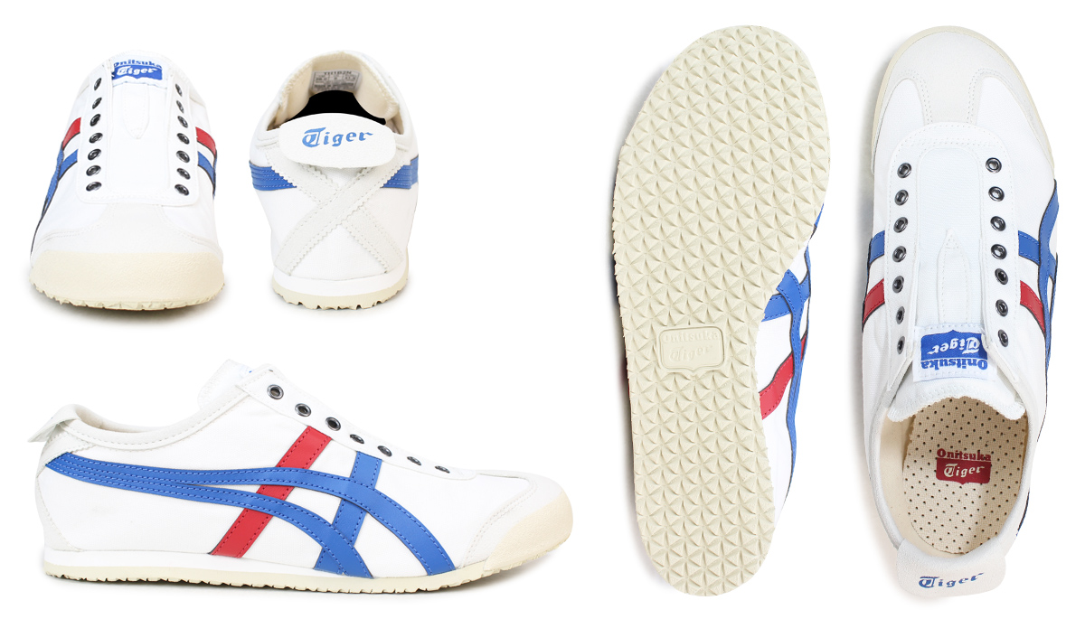 low priced dbfce e2ba6 Onitsuka Tiger Mexico 66 slip-ons Onitsuka tiger men gap Dis sneakers  MEXICO66 SLIP ON D3KON 0143 white white [the 8/1 additional arrival]