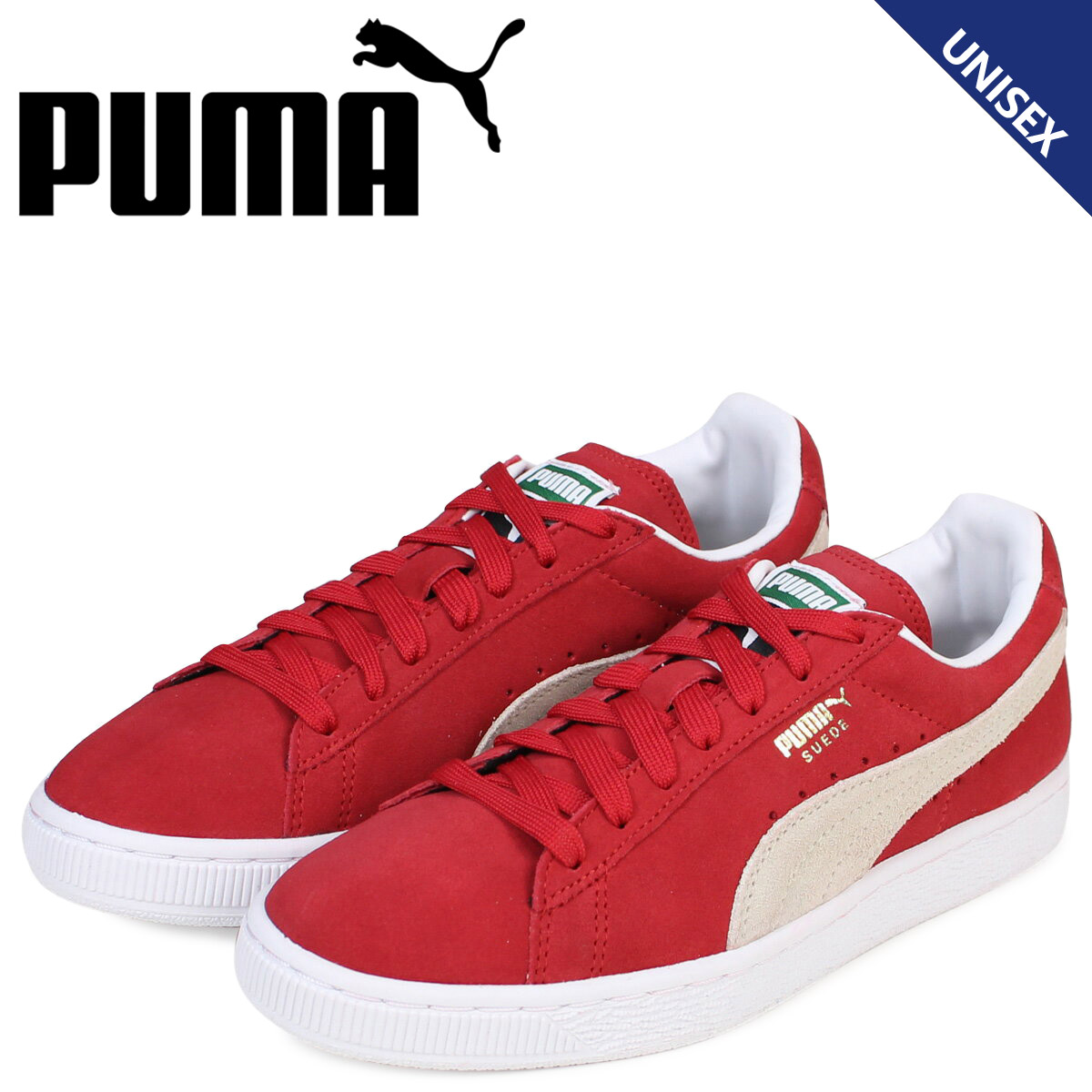 best loved 3cb24 5363f PUMA Puma suede classical music sneakers SUEDE CLASSIC + 352,634-65 men's  lady's shoes red red