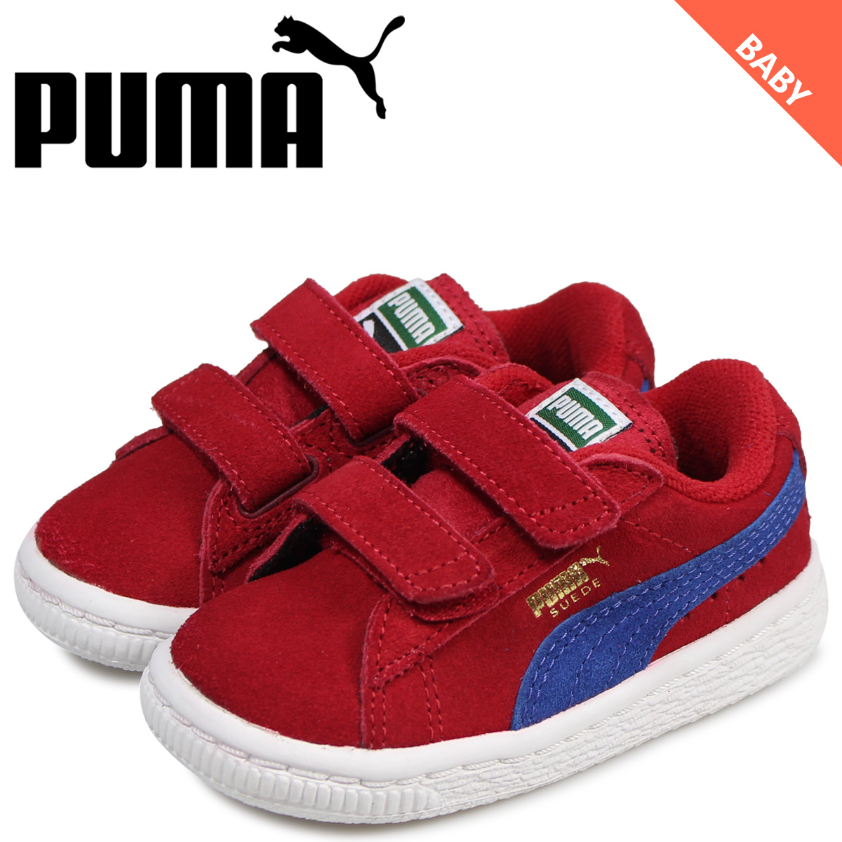PUMA Puma suede sneakers baby kids SUEDE 2 STRAPS KIDS red 35627463
