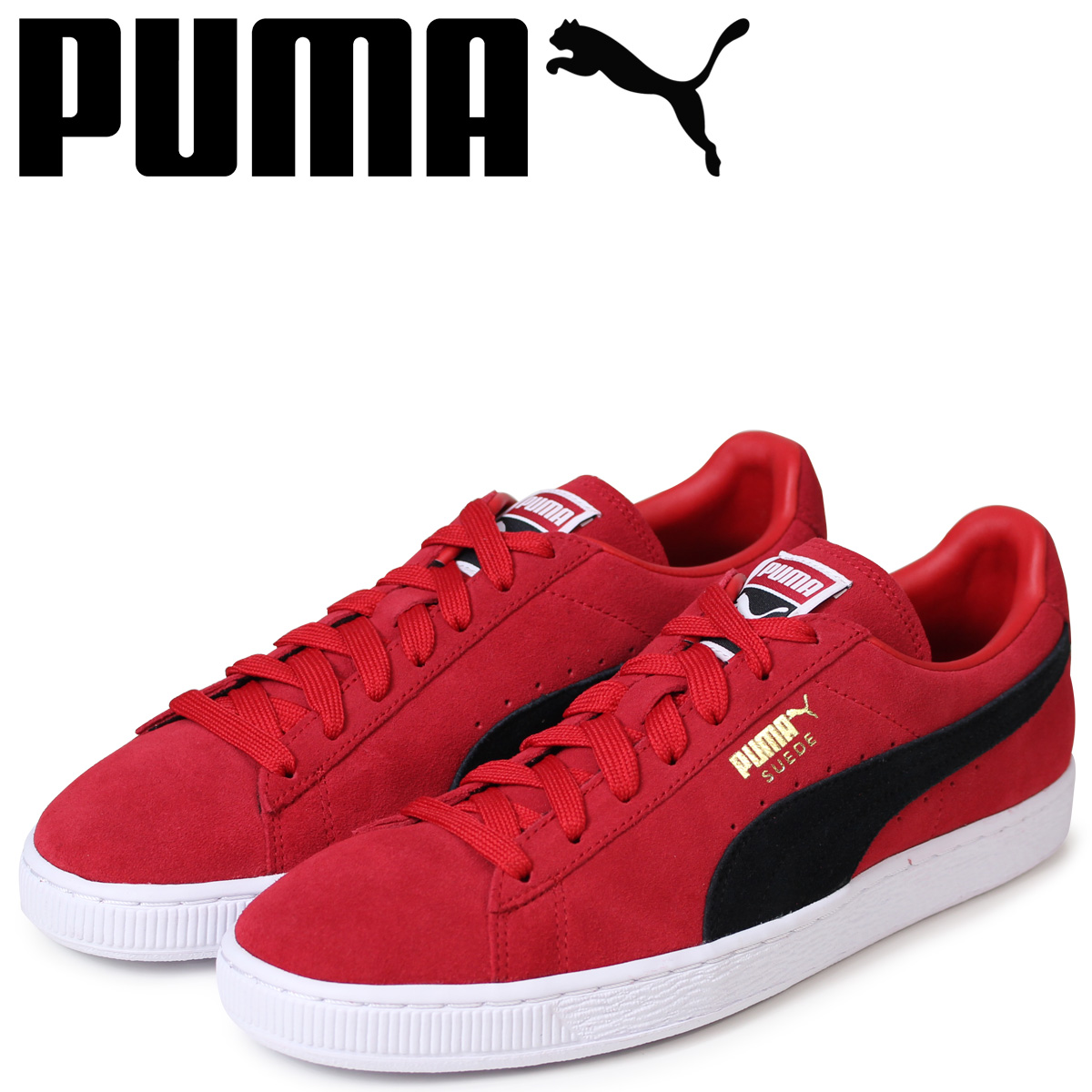 best cheap dcd11 d201e PUMA Puma suede classical music sneakers men SUEDE CLASSIC + 363,242-25 red  red