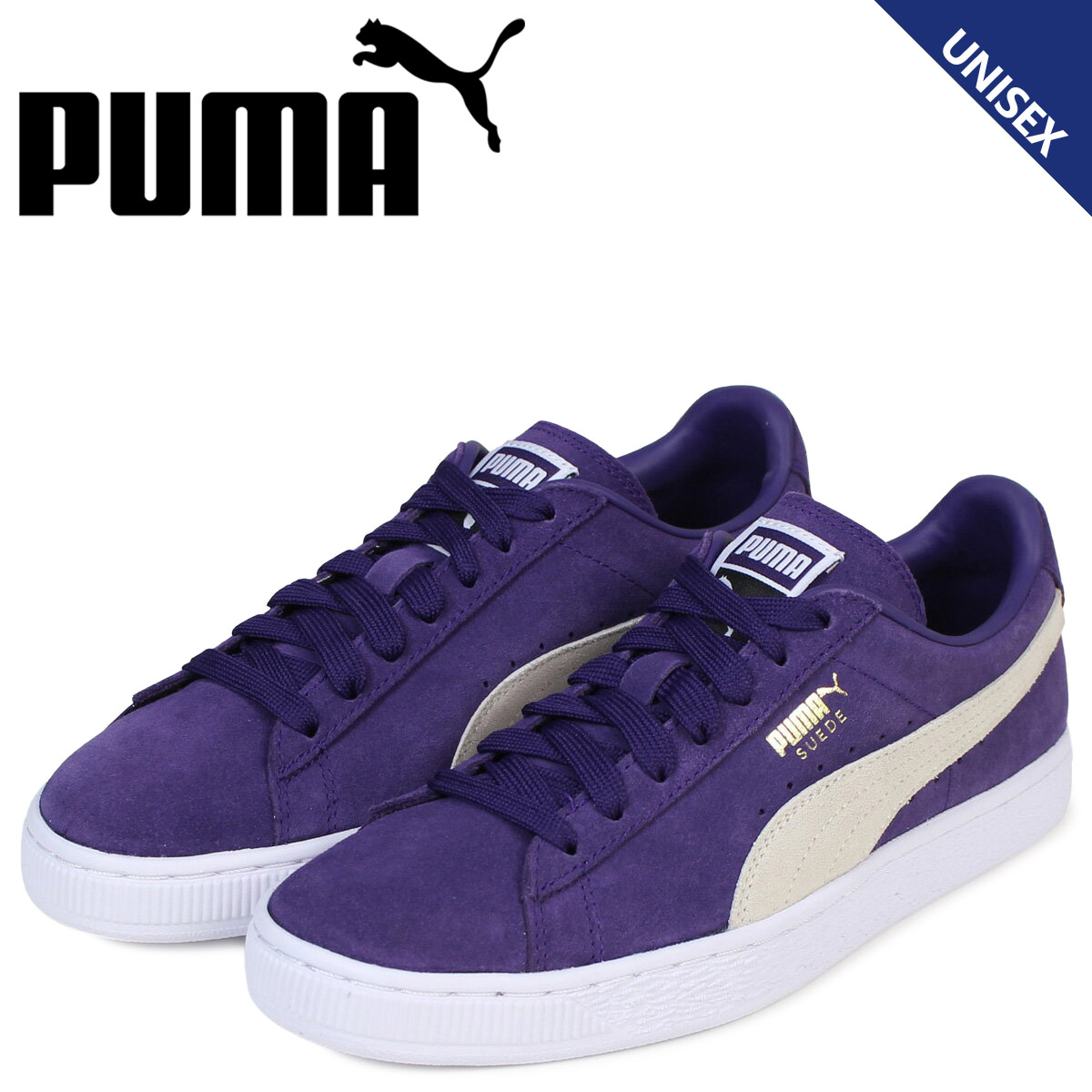 new concept 629f2 e2e11 PUMA Puma suede classical music sneakers SUEDE CLASSIC + 363,242-32 men's  lady's shoes purple