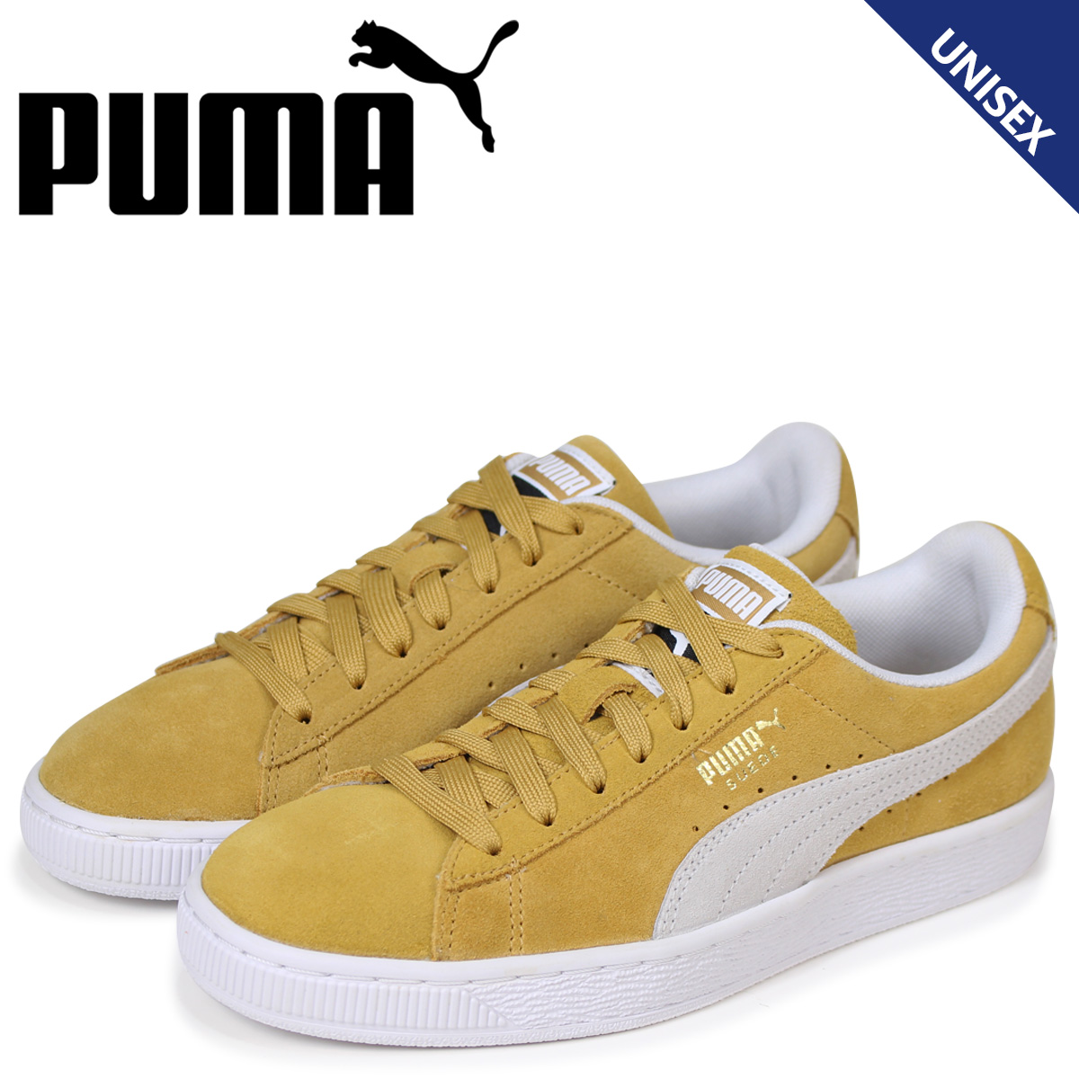 promo code b3e08 b0cf7 PUMA Puma suede classical music sneakers men gap Dis SUEDE CLASSIC  365,347-10 yellow