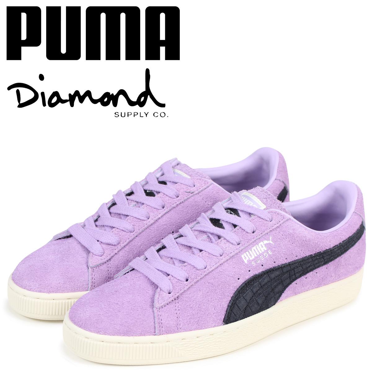 PUMA プーマ スエード スニーカー メンズ ダイヤモンドサプライ SUEDE DIAMOND コラボ 365650-02 パープル