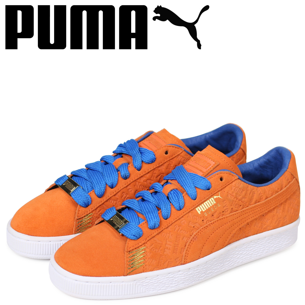 buy popular 218ac 23e3c PUMA Puma suede classical music sneakers men SUEDE CLASSIC NYC 366,293-01  orange