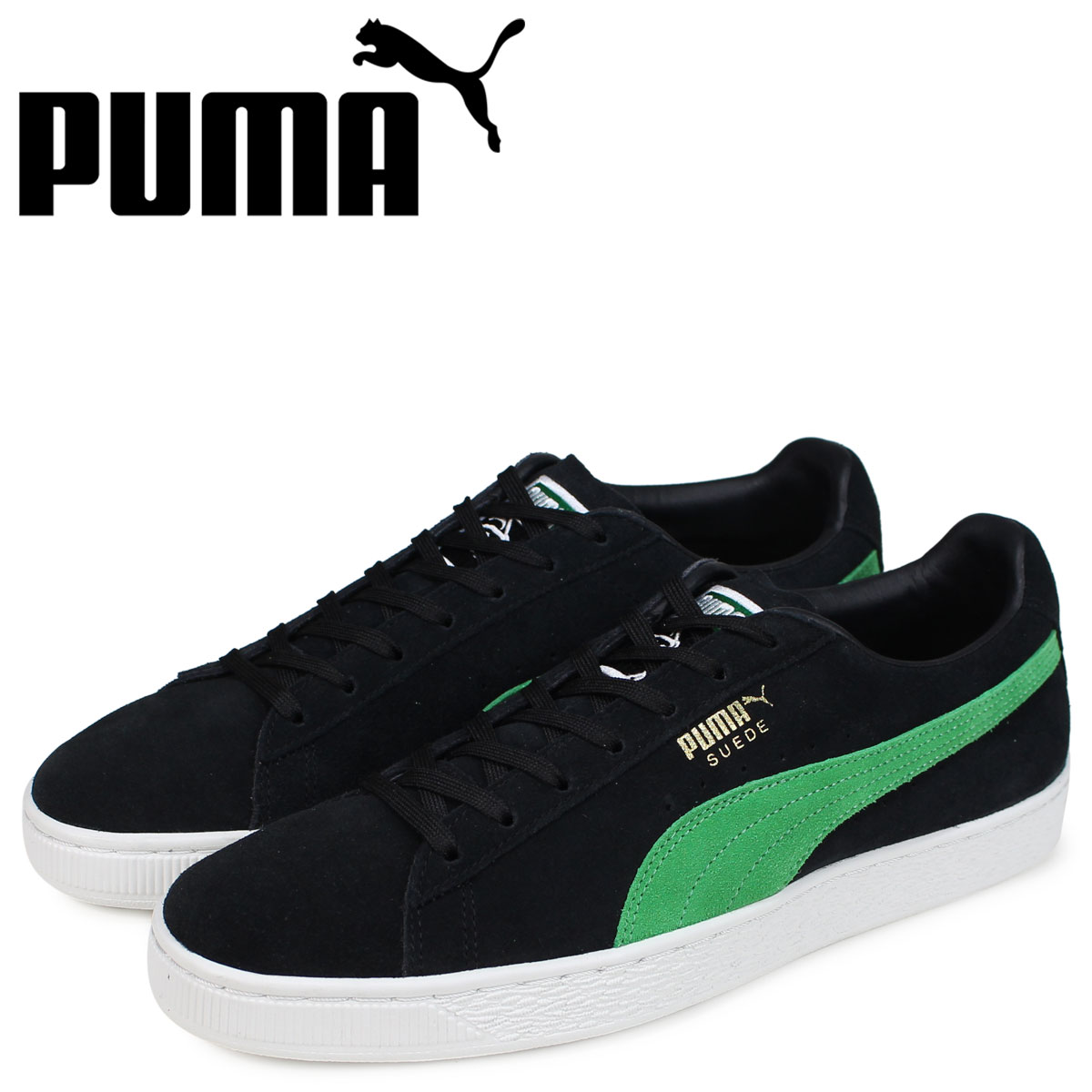 PUMA Puma suede cloth classical music sneakers men extra large  collaboration X-LARGE SUEDE CLASSIC black 366 dcba7cc56