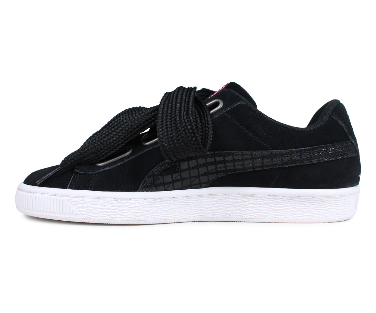 PUMA Puma suede heart street 2 sneakers Lady's WMNS SUEDE HEART STREET 2 black black 36678001