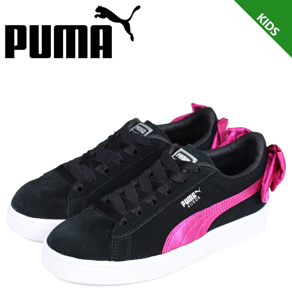PUMA Puma suede bow tie sneakers kids SUEDE BOW AC PS black black 36731804