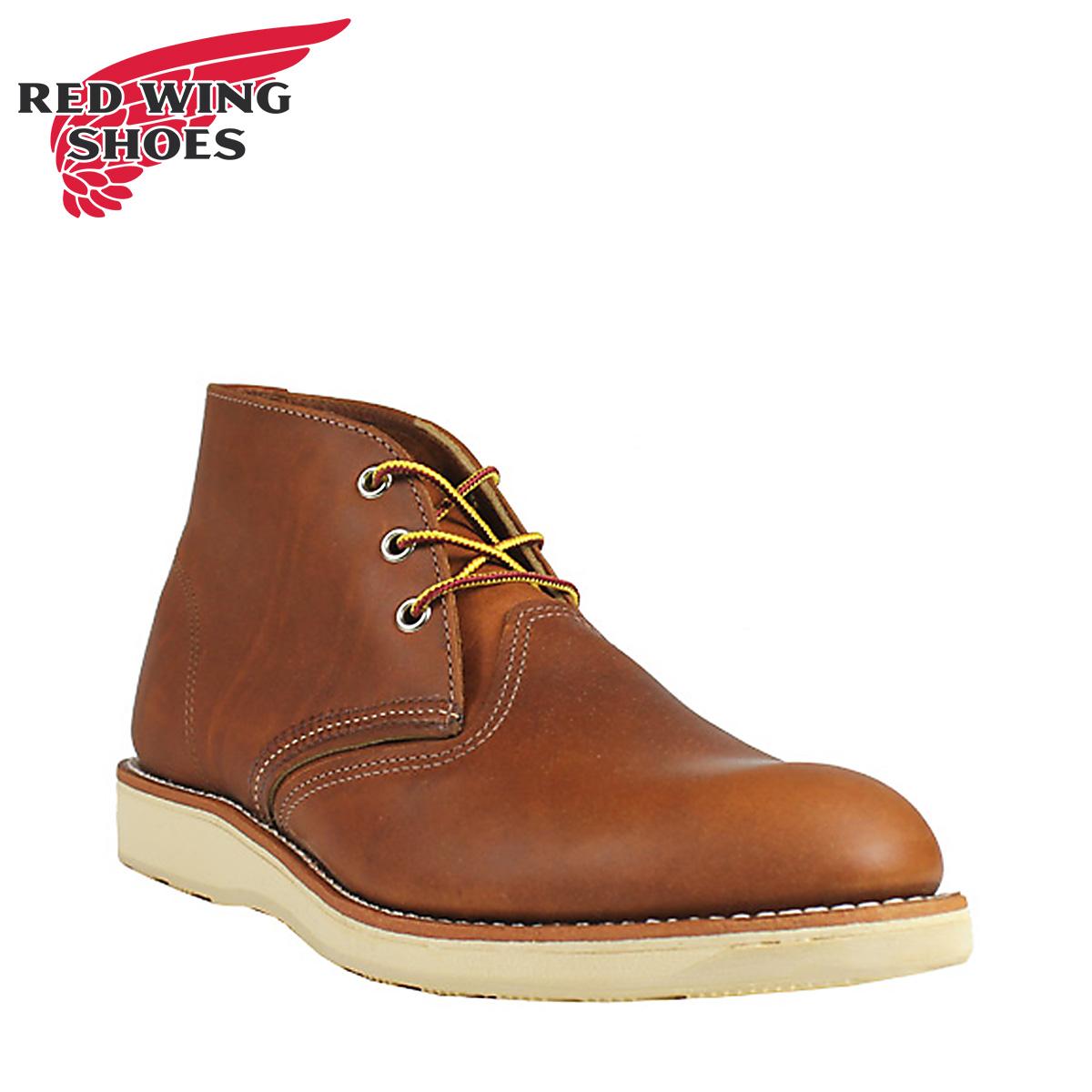RED WING レッドウィング ブーツ チャッカブーツ クラシック メンズ CLASSIC CHUKKA Dワイズ ブラウン 3140