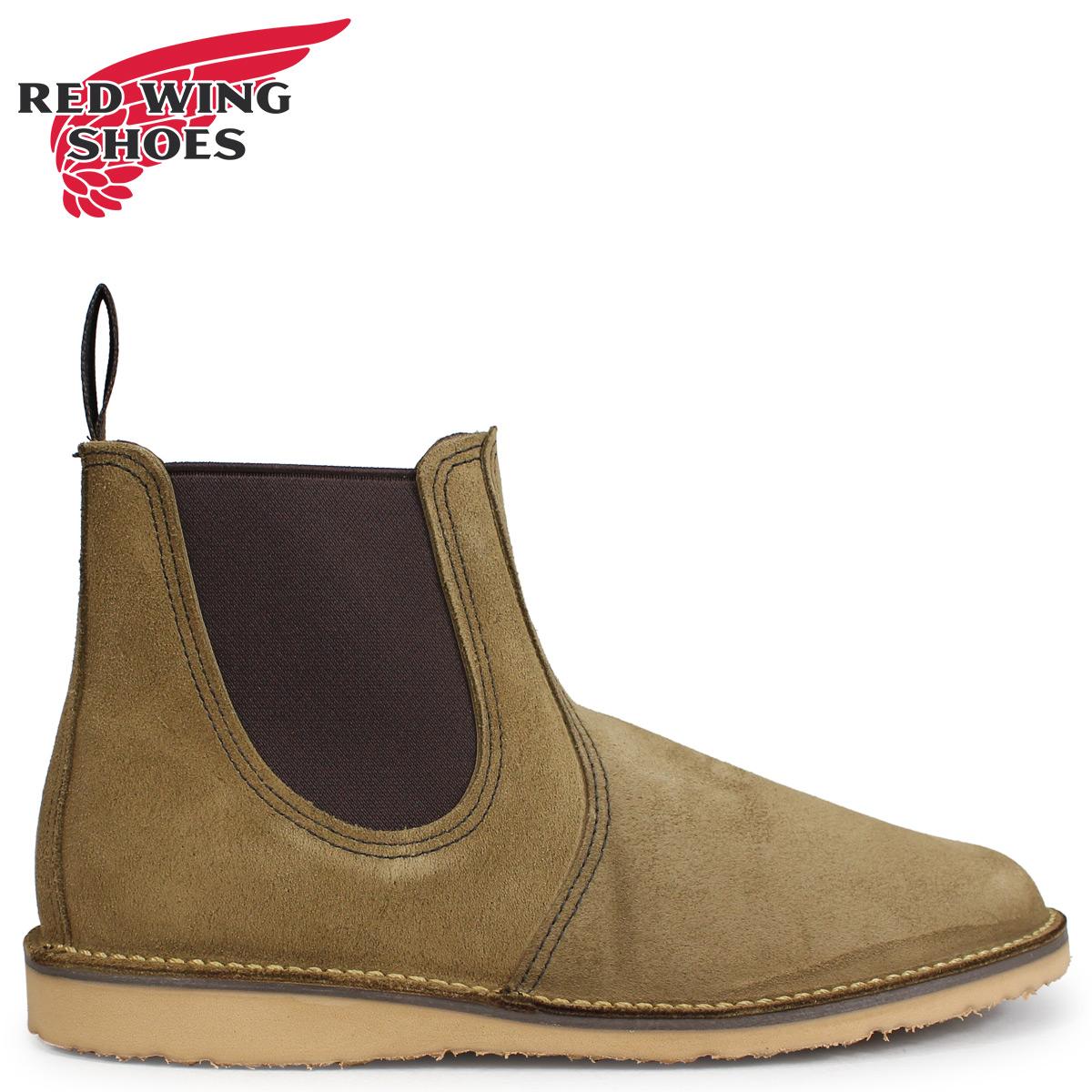 RED WING レッドウィング ブーツ チェルシー サイドゴア メンズ WEEKENDER CHELSEA Dワイズ カーキ 3312