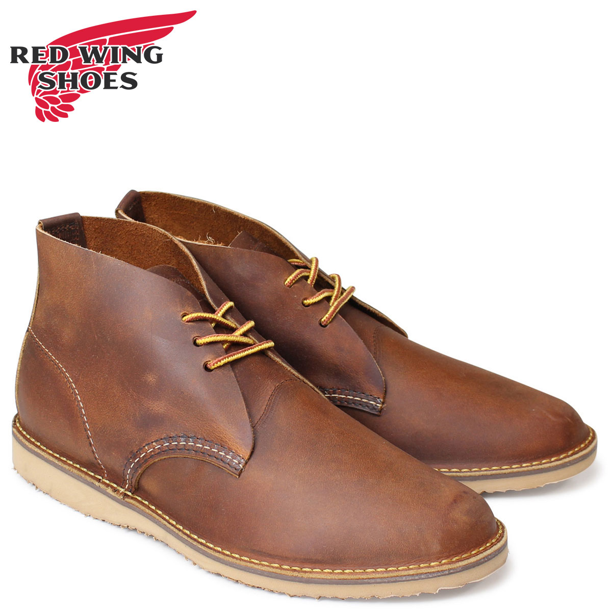 RED WING レッドウィング ブーツ チャッカブーツ メンズ WEEKENDER CHUKKA Dワイズ ブラウン 3322