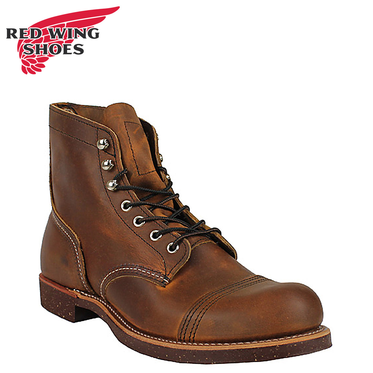 Red Wing Shoes for Men with Steel Toe Biker Boots for Sale