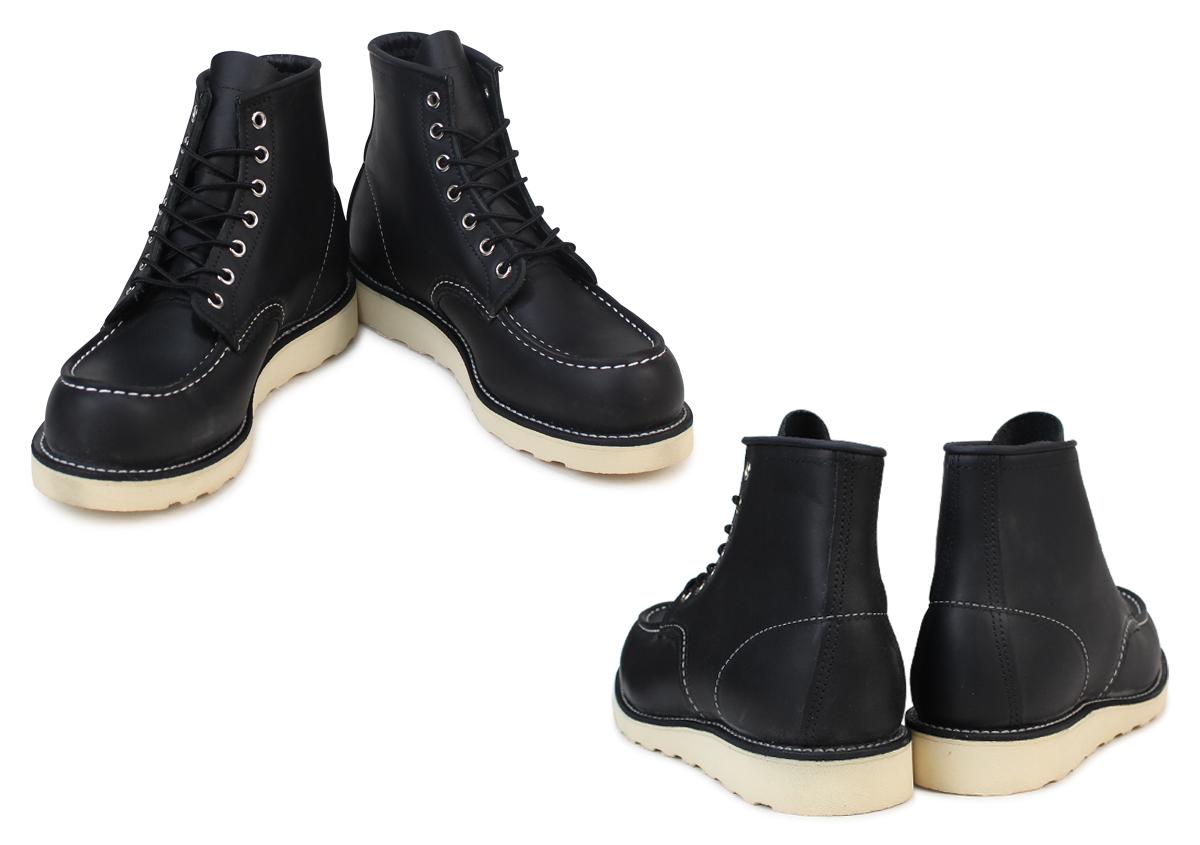 红翼向红翼 6 英寸经典软皮鞋靴子 9075 8130 6 英寸经典 Moc 脚趾 D 明智皮革男士制造在美国红翼