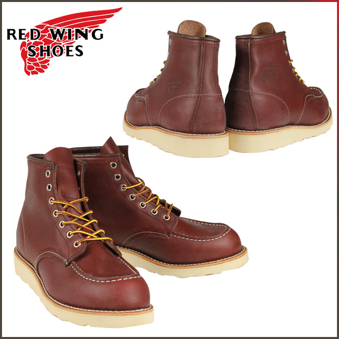 Redwing RED WING 6 inch moccasin to boots 9106 8131 8875 6inch Classic Moc  Toe D wise オロラセットポーテージ leather mens Made in USA Red Wing