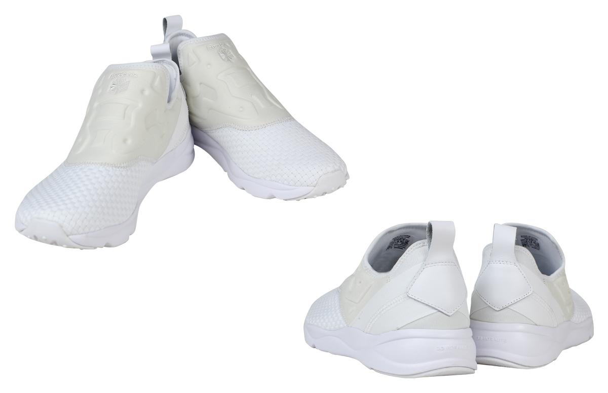 Reebok リーボックフューリーライトスニーカースリッポン FURYLITE SLIPON WEAVE AR3801 men gap Dis  shoes white white