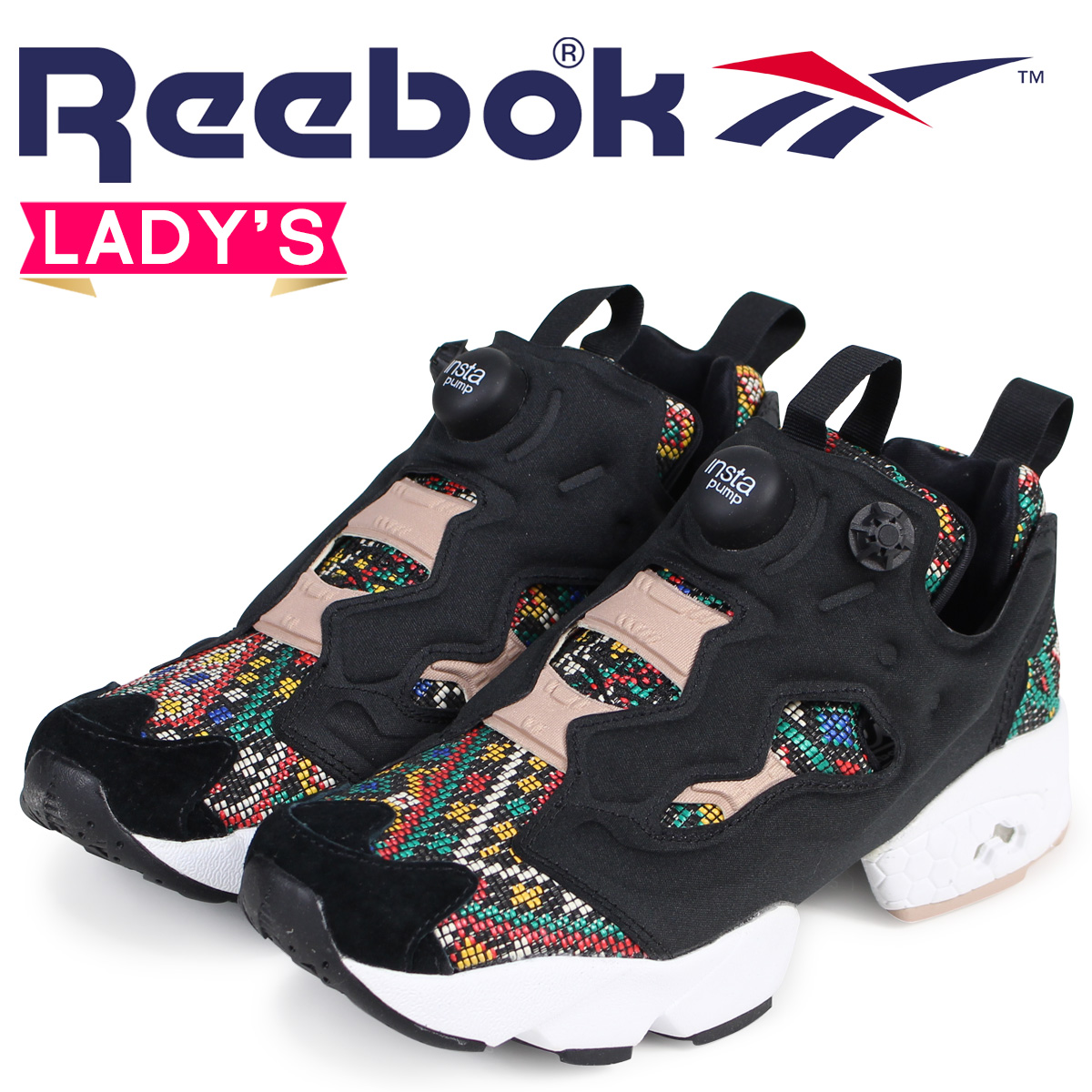 6ee8fcdec22d Reebok ポンプフューリーレディーススニーカーリーボック INSTAPUMP FURY GT BD3095 black  load planned  Shinnyu load in reservation product 1 26 containing