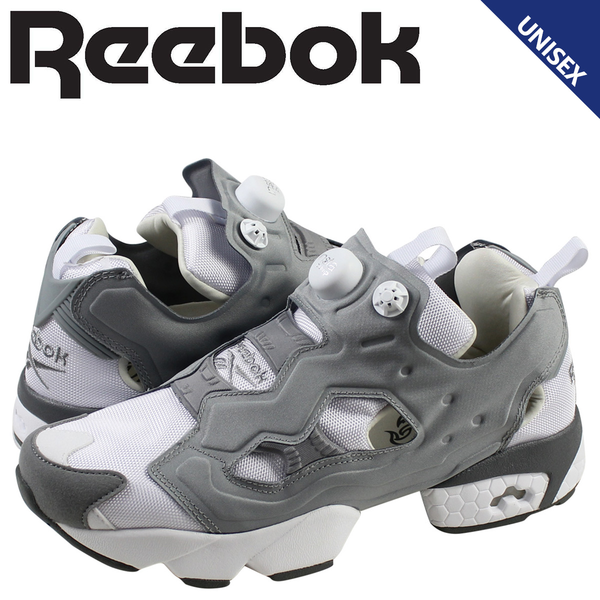 5c66ff8b Reebok Reebok INSTA PUMP FURY OG sneaker insta pump fury original mesh  leather men's women's M48560 white grey unisex [7 / 17 new stock] [regular]