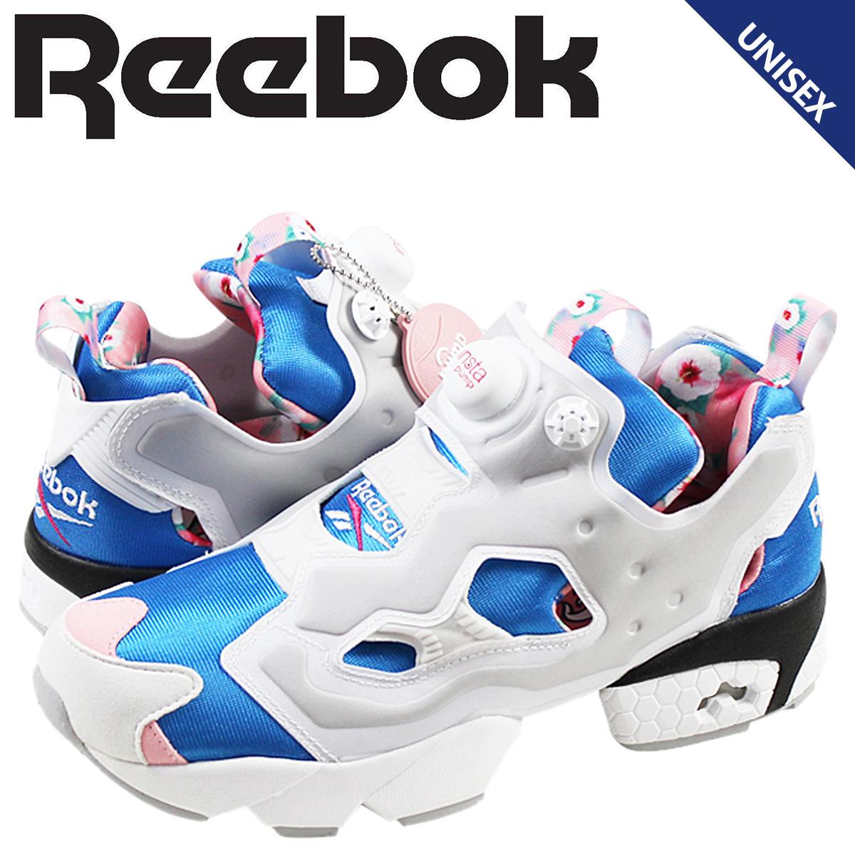 Reebok リーボック ポンプフューリー スニーカー INSTAPUMP FURY OG SHARON V62596 メンズ レディース 靴 ブルー ホワイト