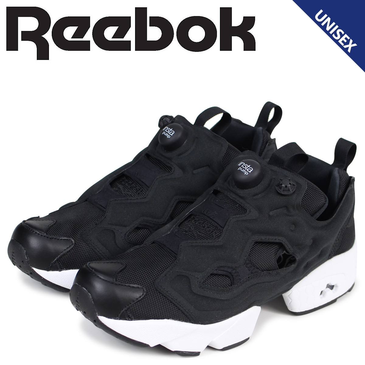 Reebok Reebok pump fury sneakers INSTAPUMP FURY OG V65750 men s women s shoes  black 515a1e6e2