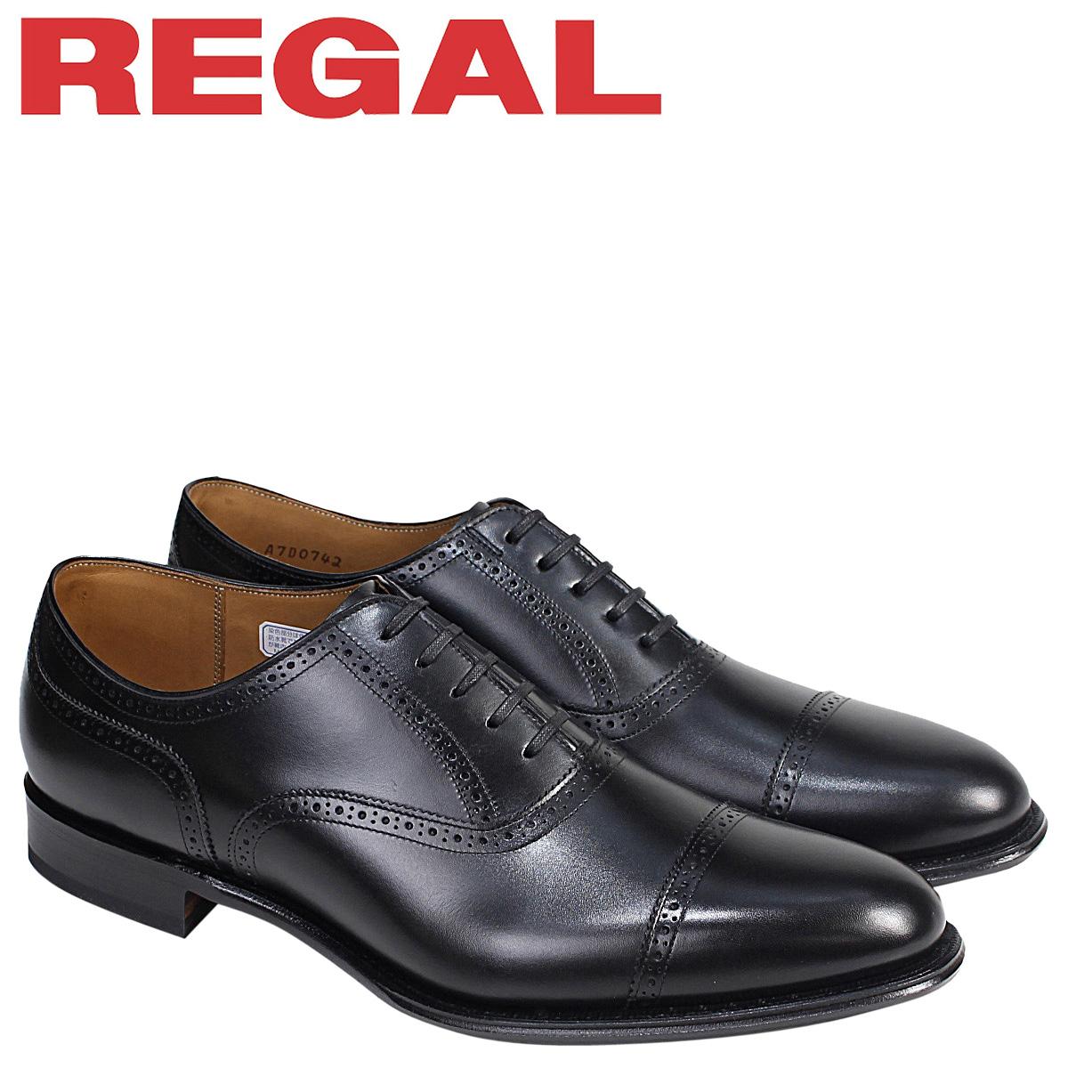 REGAL 靴 メンズ リーガル クォーターブローグ 02DR CD ビジネスシューズ ブラック