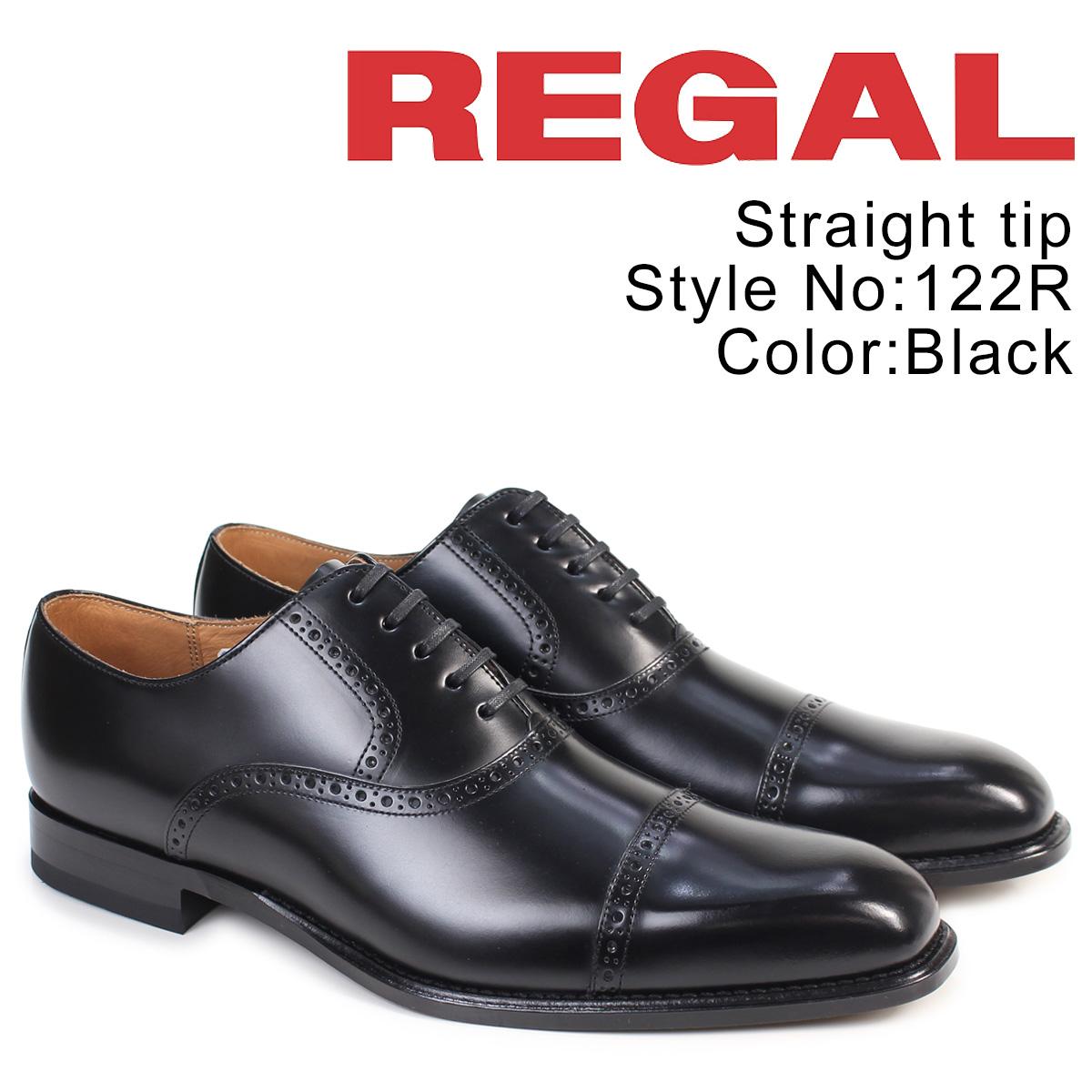 【最大2000円OFFクーポン配布】 REGAL 靴 メンズ リーガル ストレートチップ 122RAL ビジネスシューズ 日本製 ブラック