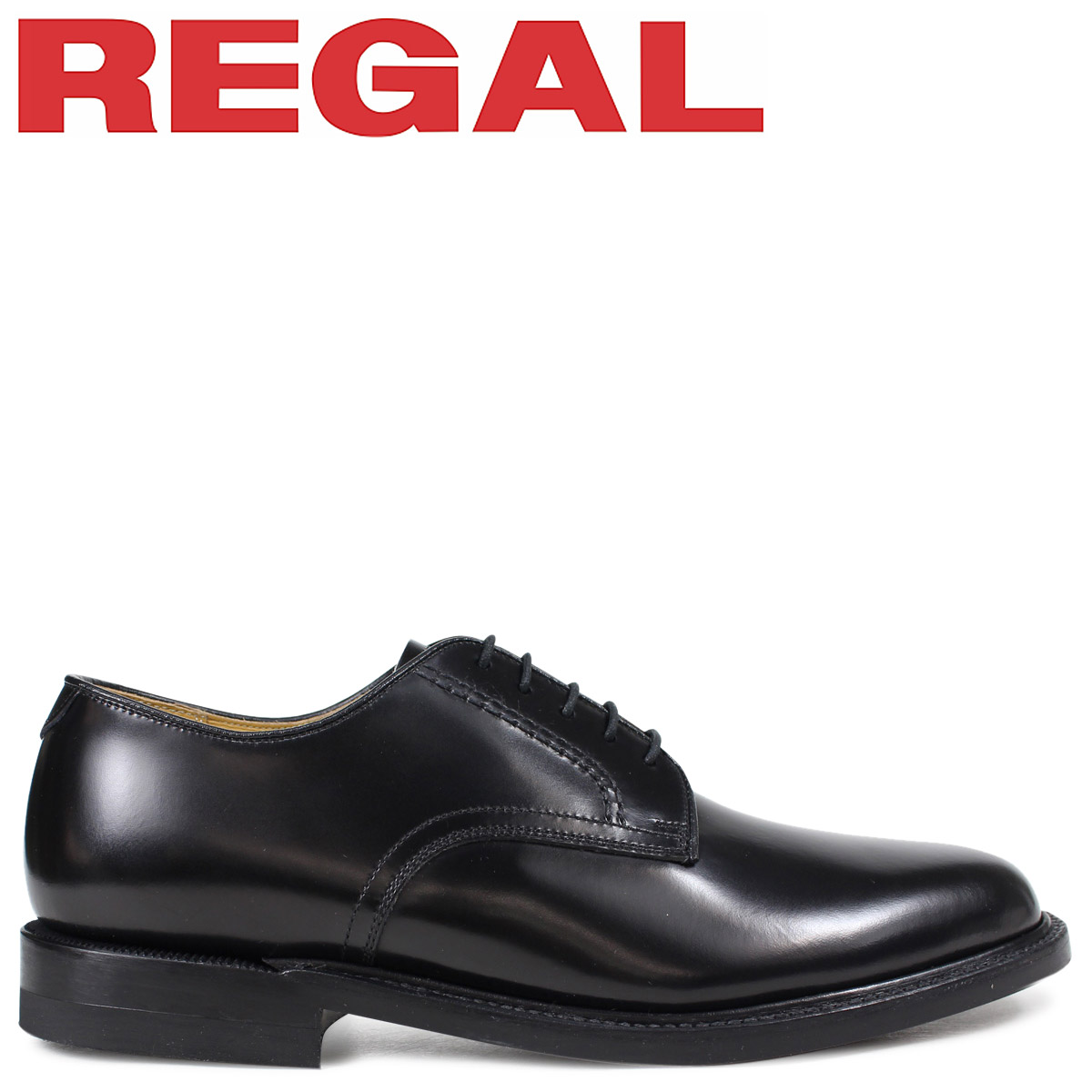 REGAL 靴 メンズ リーガル プレーントゥ ビジネスシューズ 日本製 ブラック 黒 2504NA