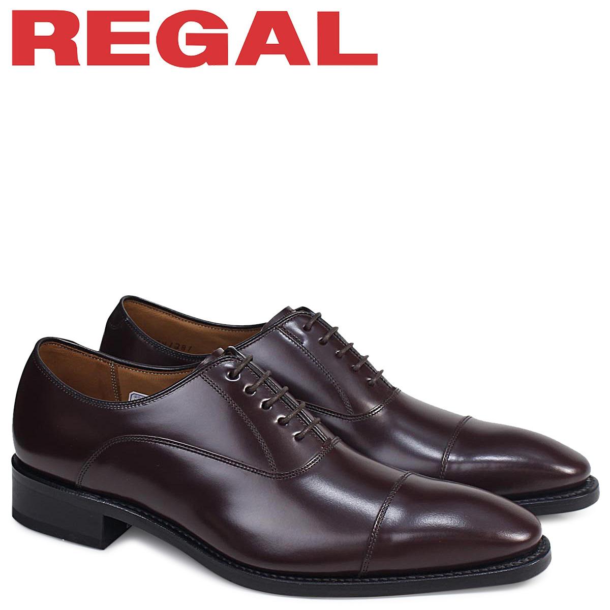 REGAL 靴 メンズ リーガル ストレートチップ 315RBE ビジネスシューズ 日本製 ダークブラウン