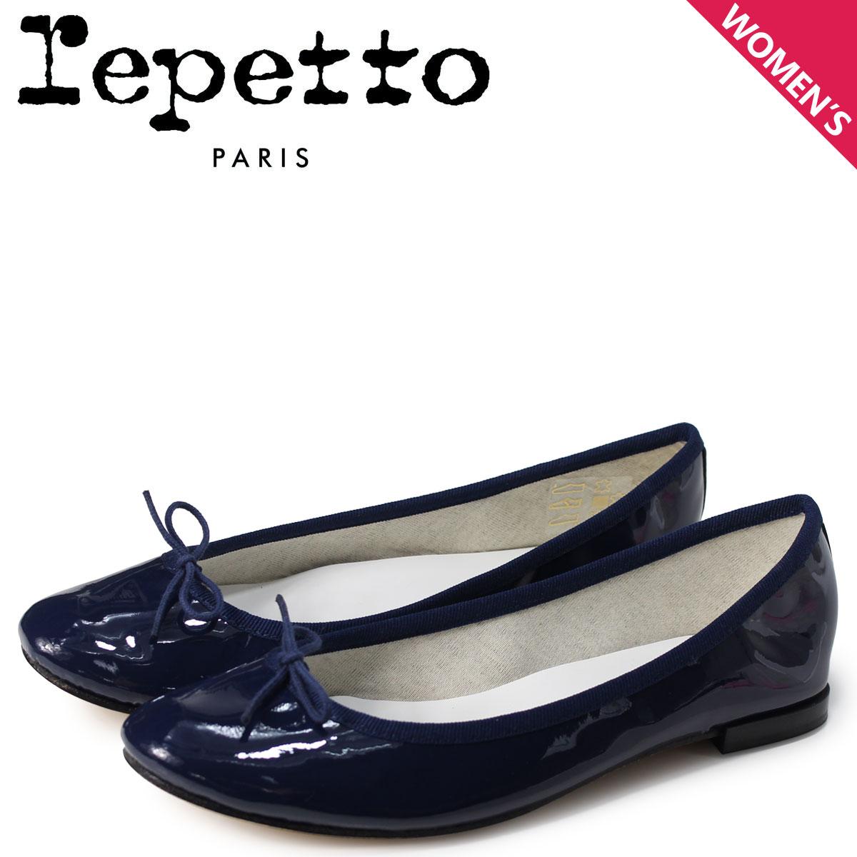 【10%OFF】 Repetto レペット バレエシューズ サンドリオン パンプス レディース CENDRILLON BALLERINA ネイビー V086-851