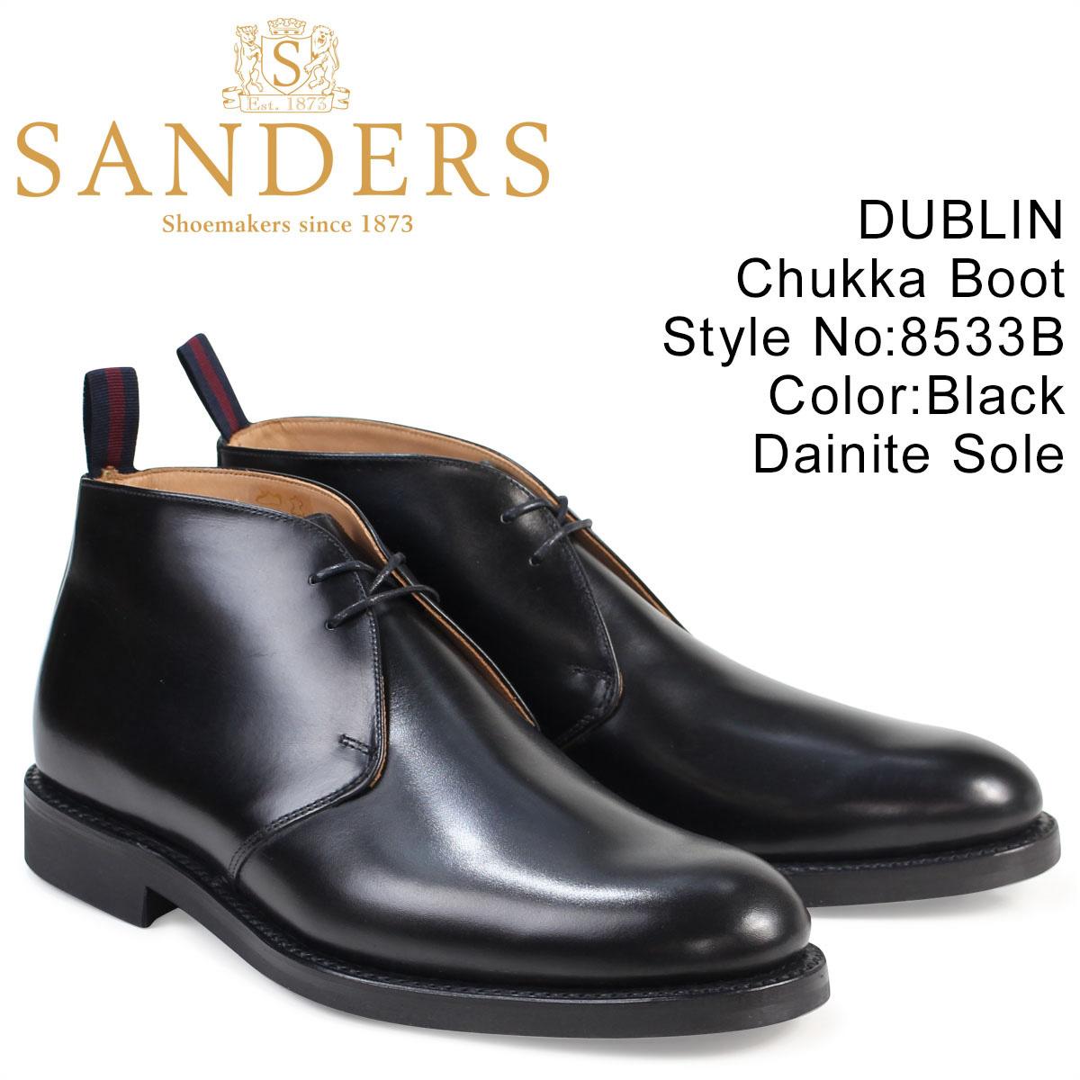 SANDERS 靴 サンダース ミリタリー チャッカブーツ ビジネス DUBLIN 8533B メンズ ブラック