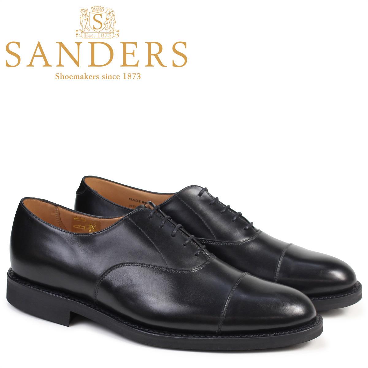 SANDERS 靴 サンダース ミリタリー オックスフォード シューズ ビジネス HELSINKI 9175B ダイナイトソール メンズ ブラック