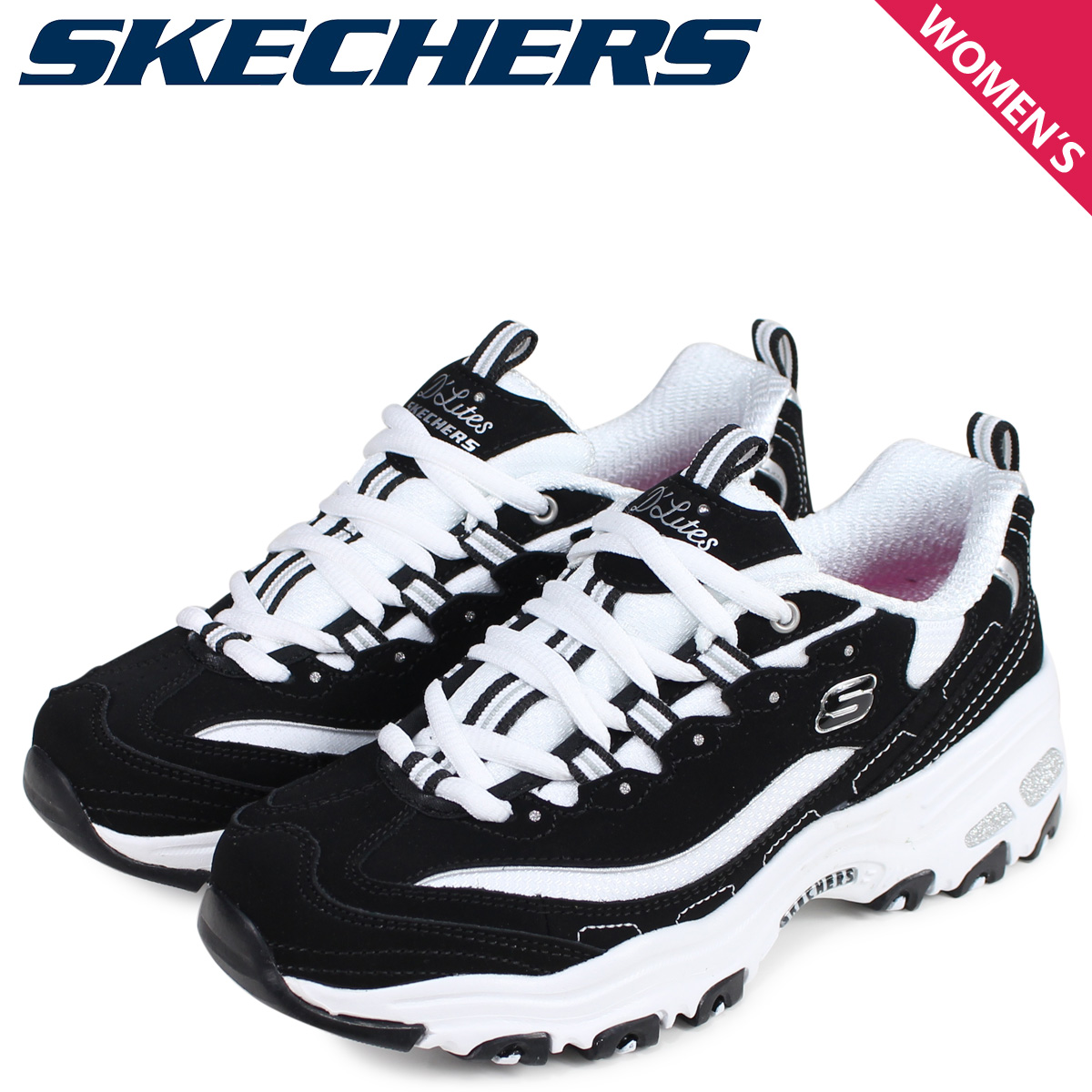SKECHERS スケッチャーズディライトスニーカーレディースディーライト D LITES BIGGEST FAN black black 11930