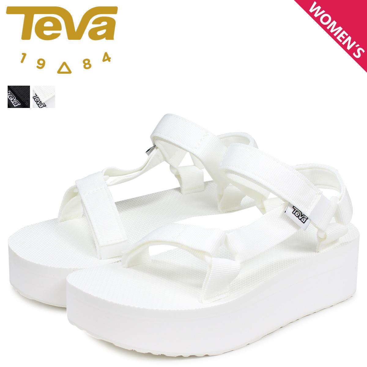 53344761d6d3 Teva Teva sandals flat form universal Lady s thickness bottom W FLATFORM  UNIVERSAL black white black and white 1008844  load planned Shinnyu load in  ...