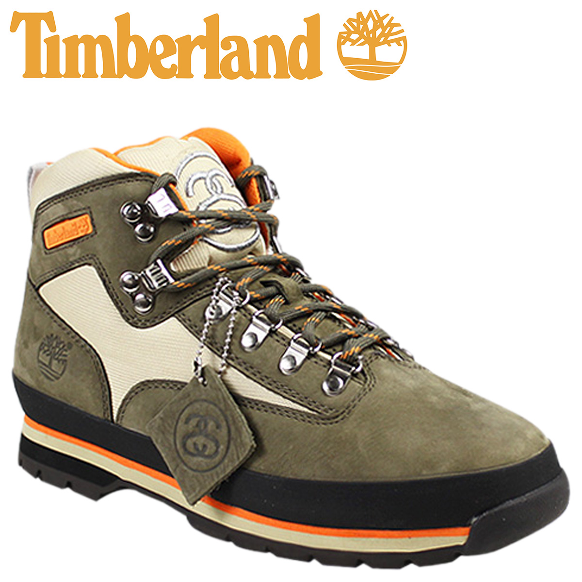 fb915314ce6 Timberland Timberland STUSSY euro hiker boots EURO HIKER BOOT nubuck  collaboration W name 6,238A brown men