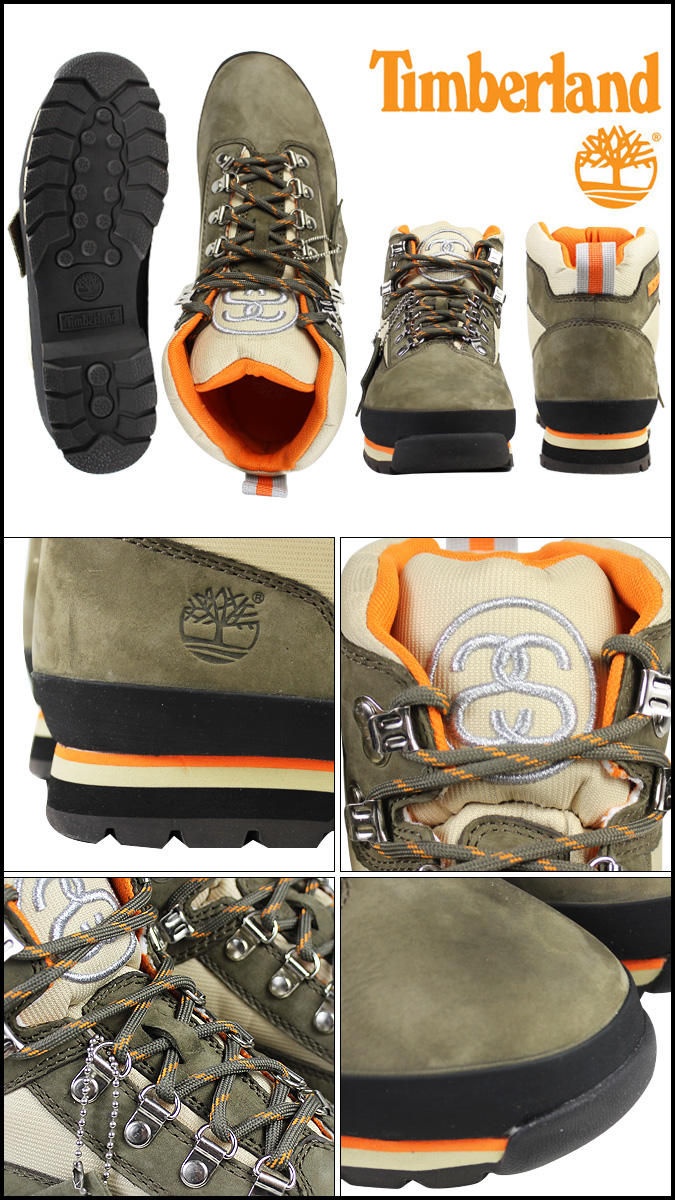 a2964046865 Timberland Timberland STUSSY euro hiker boots EURO HIKER BOOT nubuck  collaboration W name 6,238A brown men