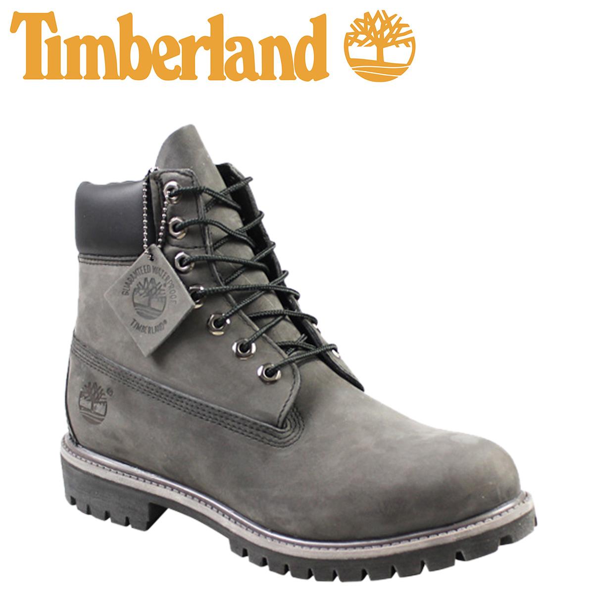 timberland 6 inch waterproof boots grey