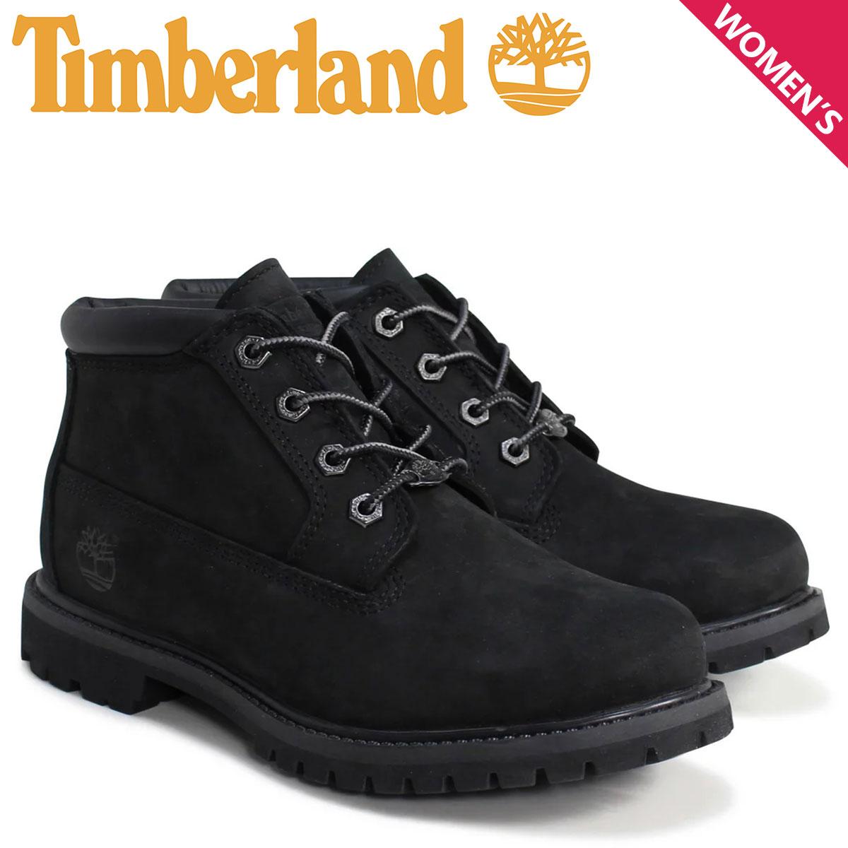 Timberland チャッカ レディース ティンバーランド ブーツ WOMEN'S NELLIE WATERPROOF CHUKKA BOOTS 23398 Wワイズ 防水 ブラック