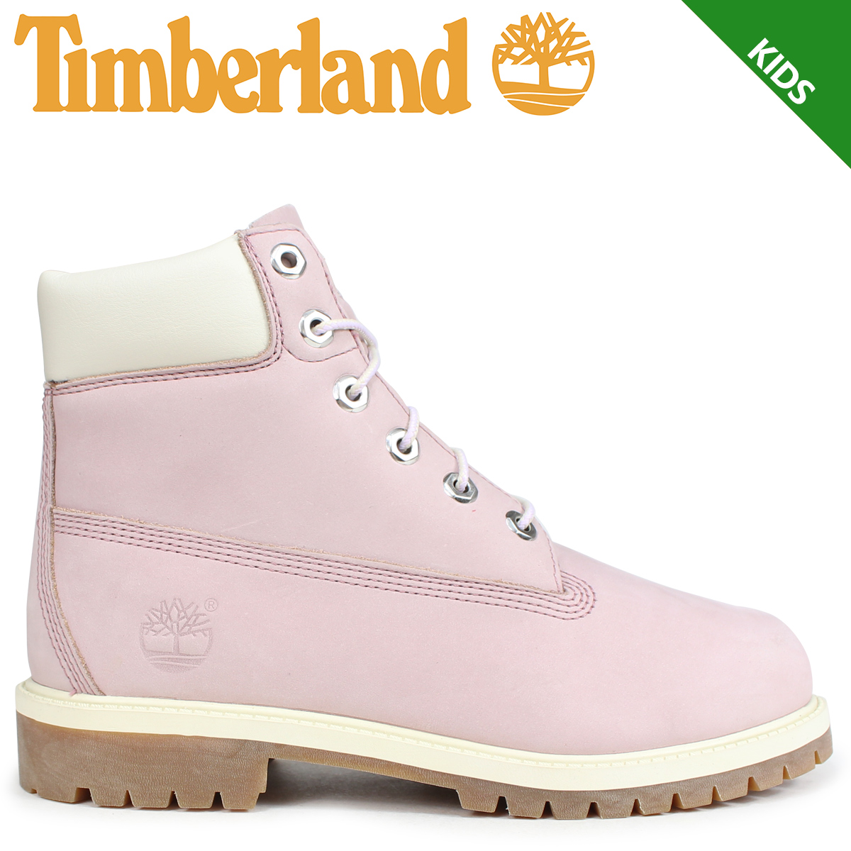 Timberland boots Lady's 6 inches Timberland kids JUNIOR 6 INCH PREMIUM WATERPROOF BOOTS 34,992W Wise pink [823 reentry load]