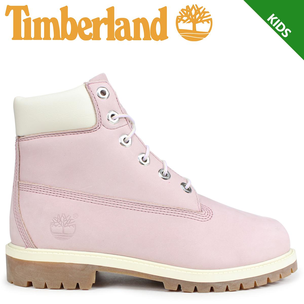 Timberland ブーツ レディース 6インチ ティンバーランド キッズ JUNIOR 6-INCH PREMIUM WATERPROOF BOOTS 34992 Wワイズ ピンク