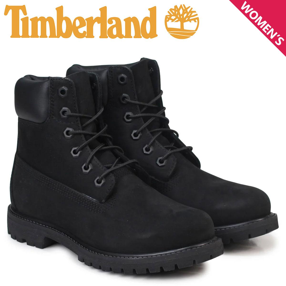 Timberland ブーツ レディース 6インチ ティンバーランド WOMENS 6INCH PREMIUM WATERPROOF BOOTS 8658A Wワイズ プレミアム 防水 ブラック