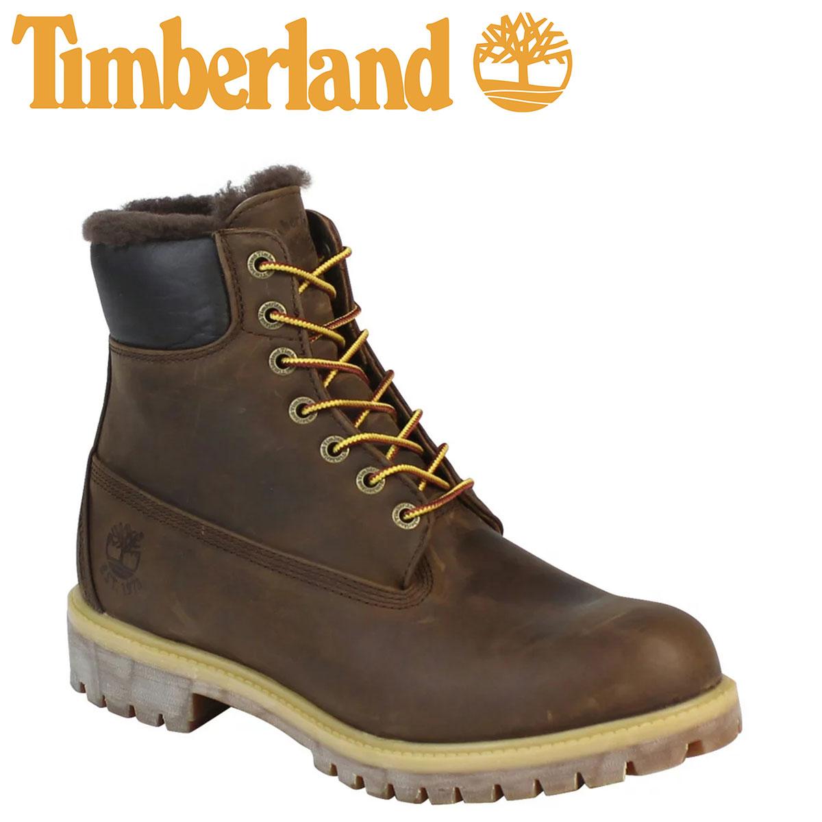 Timberland ティンバーランド HERITAGE 6 INCH SHEARLING LINED ブーツ ヘリテージ 6インチ シャーリング ライン 9664B Wワイズ ダークブラウン メンズ