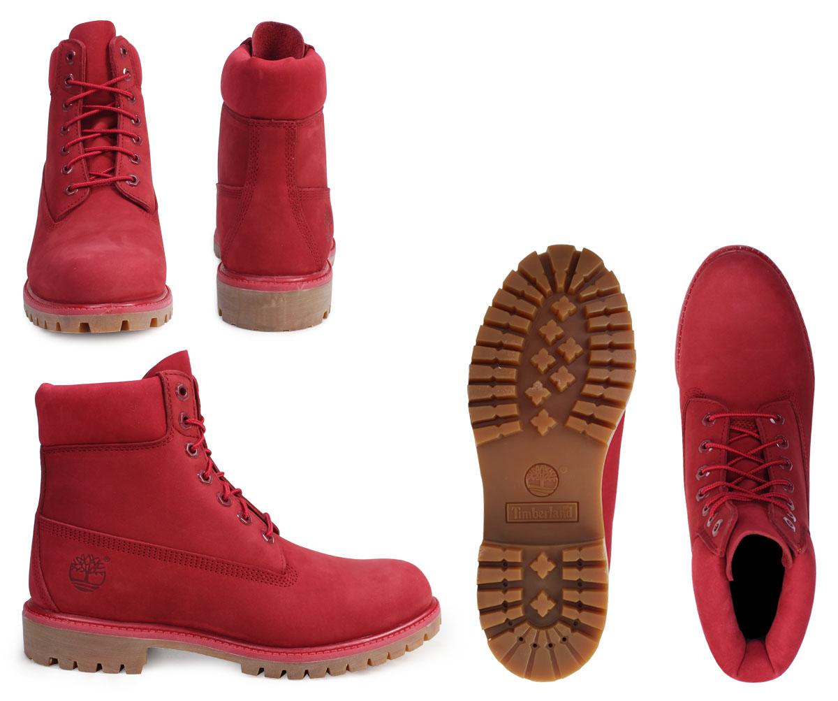Botas Timberland 6 Pulgadas De Los Hombres Rojos LNEDjxkp