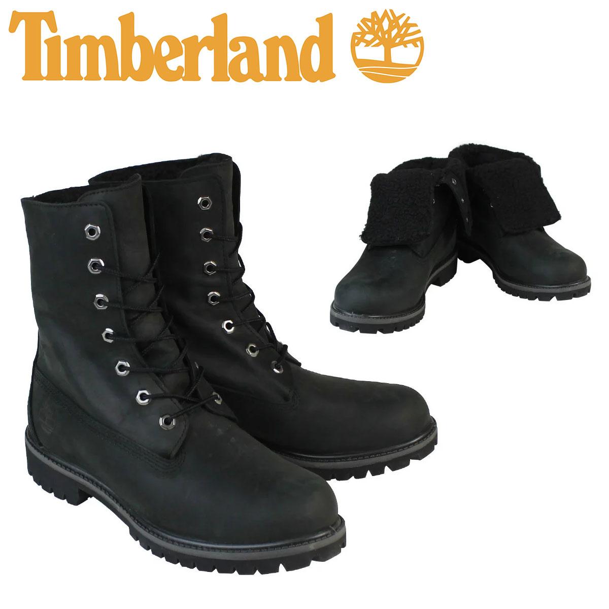 Timberland ティンバーランド HERITAGE FOLD-DOWN WARM FLEECE LINED BOOT ブーツ ヘリテージ フォルドダウン フリース ライン A119A ブラック メンズ