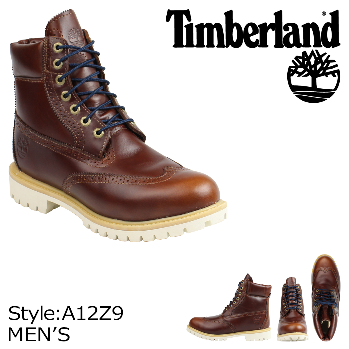 6 inches of Timberland Timberland ICON 6 INCH WATERPROOF BROGUE BOOT boots icons waterproof brogue A12Z9 W Wise Chesnutt men