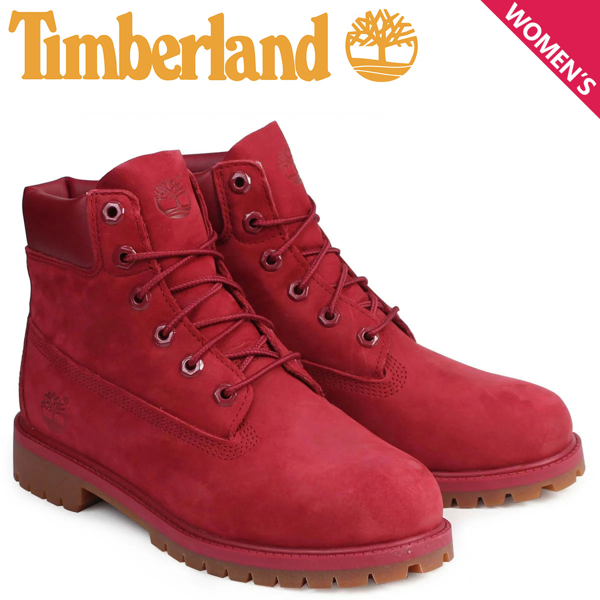 mens 6 inch timberland boots red