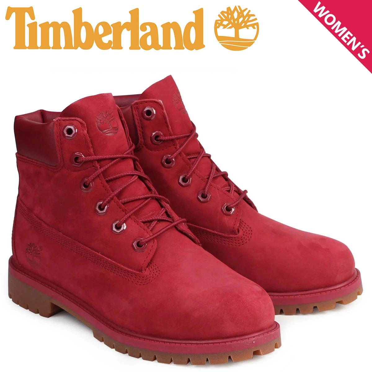 Timberland 6インチ メンズ レディース ティンバーランド ブーツ 6INCHI PREMIUM BOOTS A13HV Wワイズ 防水 レッド