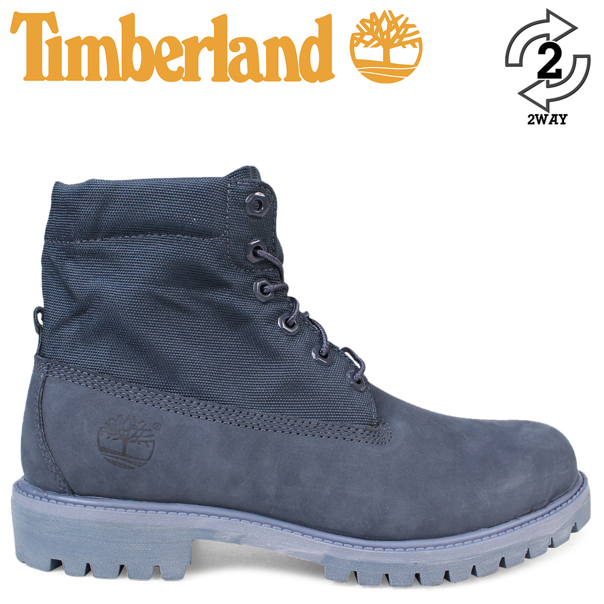 Timberland Blue Navy Af Roll Top Boots for men