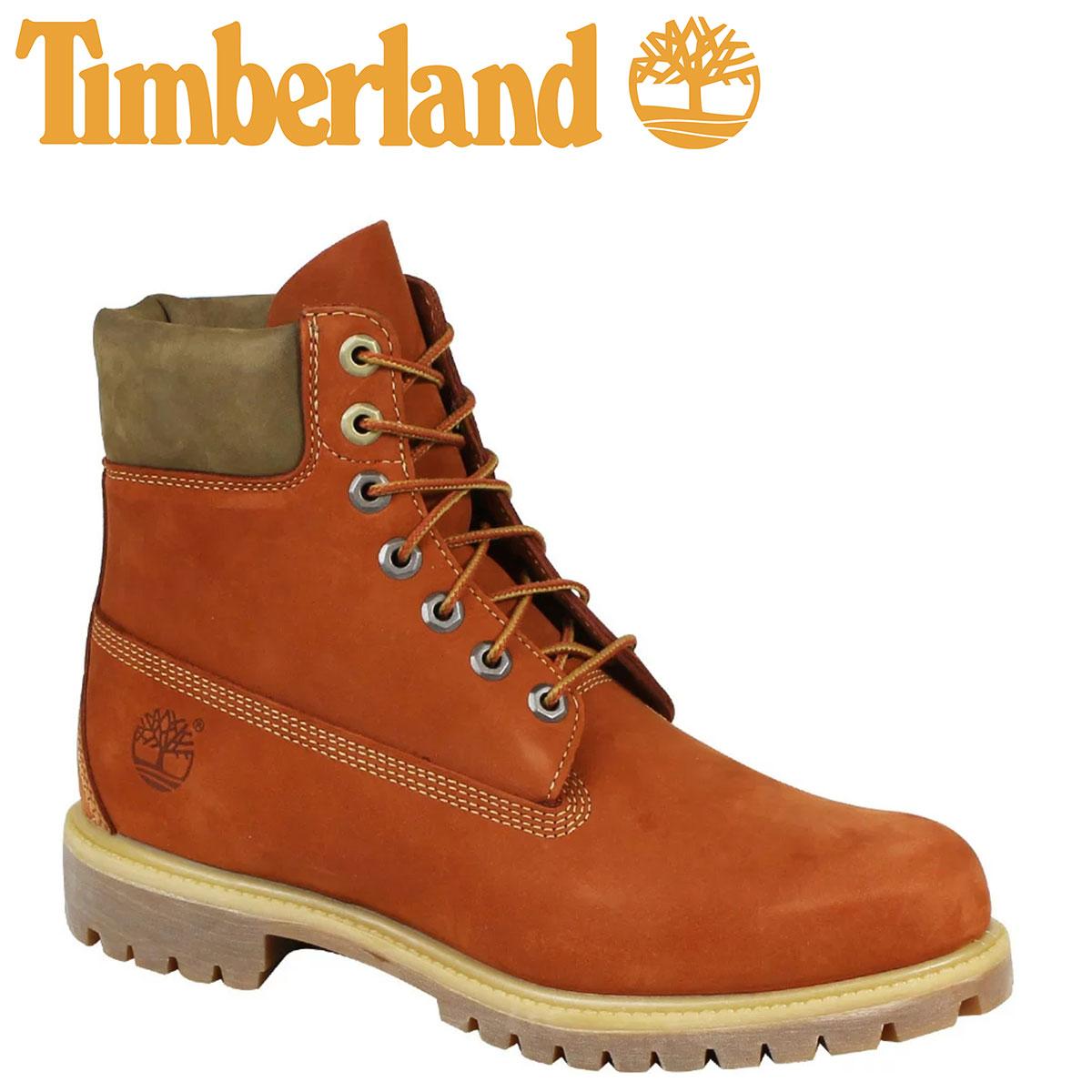 Timberland ティンバーランド 6INCHI 6インチ プレミアム ブーツ 6-INCH PREMIUM WATERPROOF BOOTS A17YC Wワイズ 防水 オレンジ メンズ